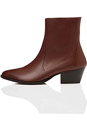 FIND Unlined Western Leather Ankle Boots, )