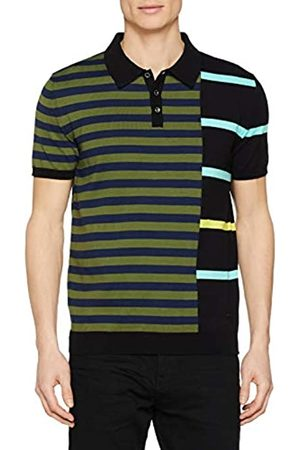 Trussardi Jeans Men's Polo Shirt 1/2 Sleeves with Stripes Pure Cotton Regular Fit