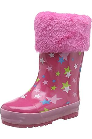 Playshoes Girl's Lined Rain Boot Wellies Stars Wellington Rubber