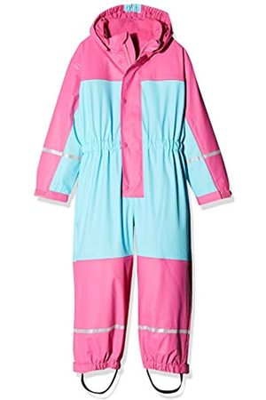 Playshoes Girl's Waterproof Fleece All-In-One Rainsuit with Reflectors