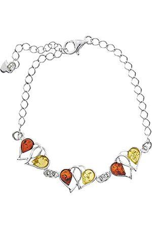 Nature d'Ambre Bracelet Set 925 Sterling Silver Amber - 31812226RH - 21 cm