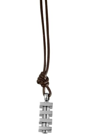 Akzent Unisex Leather Cord with Stainless Steel Pendant 002750000043