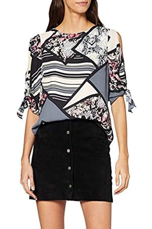 Dorothy Perkins Women's Snake Mix and Match Print Tie Sleeve Blouse