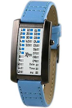 Xtress Men's Binary Quartz Watch with Leather Strap XDA1030B