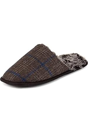 Totes Men's Fur Lined Open Back Slippers, ( Check BRC)