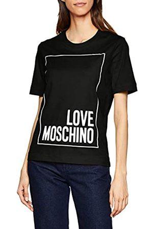Love Moschino Women's Logo Box_Short Sleeve T-Shirt