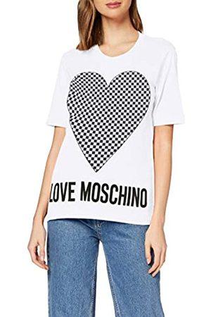 Love Moschino Women's Short Sleeve Jersey T-Shirt_Heart & Logo