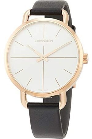 Calvin Klein Unisex Adult Analogue-Digital Quartz Watch with Leather Strap K7B236C6