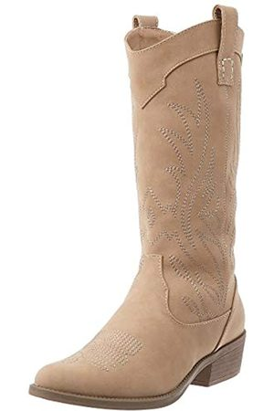 MTNG Collection Women's 58355 Cowboy Boots, (Suedy Taupe C49376)