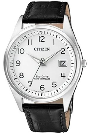 Citizen Men's Analogue Solar Powered Watch with Leather Strap AS2050-10A