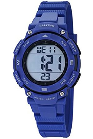 Calypso Unisex Digital Watch with LCD Dial Digital Display and Plastic Strap K5669/6