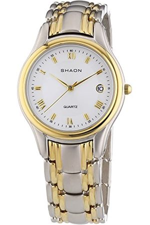 SHAON Men's Quartz Watch Dial Analogue Display and Multi-Coloured Alloy Bracelet 47-8000-18