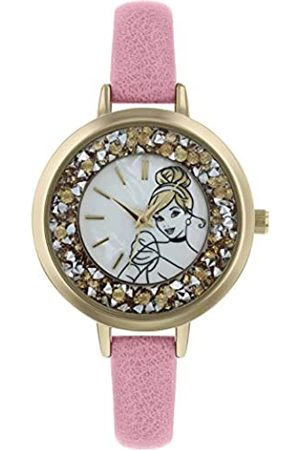 Disney Womens Analogue Classic Quartz Watch with Leather Strap PN5044