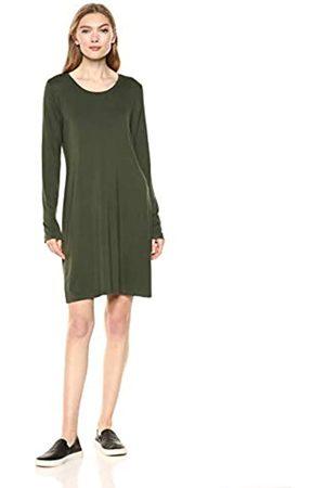 Daily Ritual Jersey Long-Sleeve Scoop-Neck T-Shirt Dress Casual