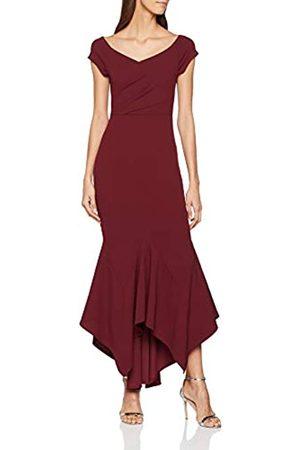 Quiz Women's Bardot Dress Party, (Berry)