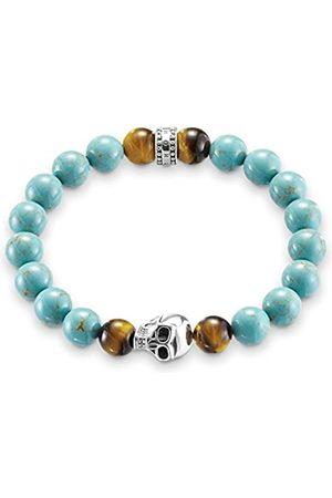 Thomas Sabo Women Men-Bracelet Rebel at Heart 925 Sterling blackened turquoise Length 15.5 cm A1560-936-17-L15