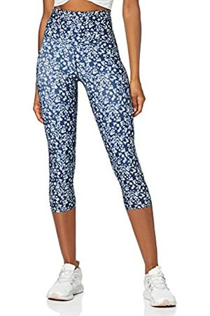 AURIQUE Amazon Brand - Women's High Waisted Printed Cropped Sports Leggings, 8
