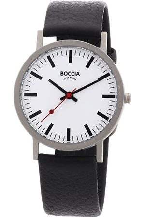 Boccia 521 – 03 Men's Analog Quartz Watch with Leather Strap