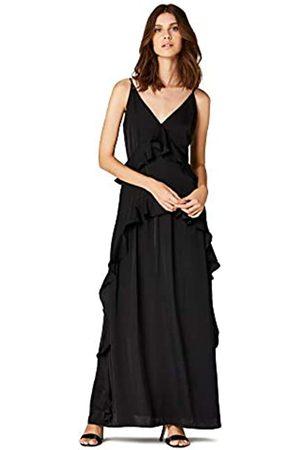 TRUTH & FABLE Amazon Brand - Women's Ruffle Maxi Dress, 14