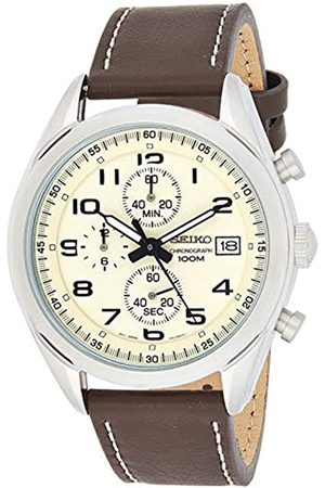 Seiko Men's Chronograph Quartz Watch with Leather Strap SSB273P1