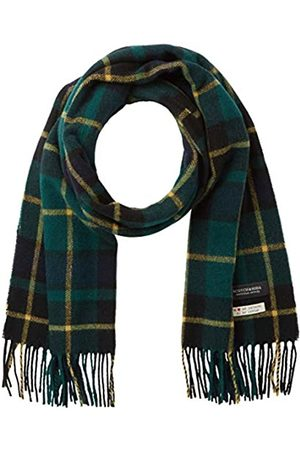 Scotch&Soda Men's Classic Woven Check Scarf in Wool-Blend Quality
