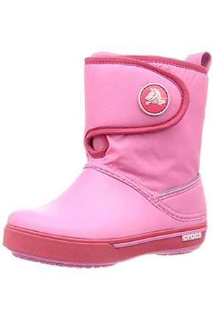 Crocs Kids' Crocband II.5 Gust Boot Snow, ( Lemonade/Poppy 6sd)
