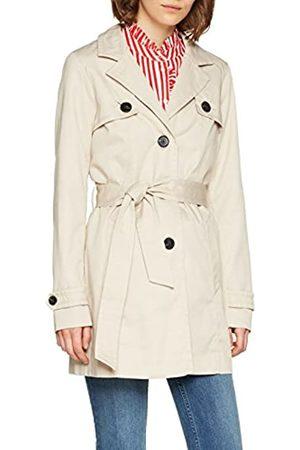 Vero Moda Women's Vmgo Abby 3/4 Trenchcoat Boos Coat, Off- Oatmeal