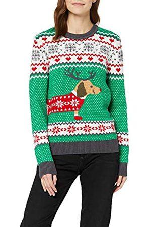 Urban Classics Women's Ugly Sweater Ladies Sausage Dog Weihnachts-Pullover Sweatshirt