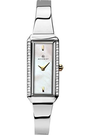 Accurist Women's Quartz Watch with Mother of Pearl Dial Analogue Display and Bangle 8025.01