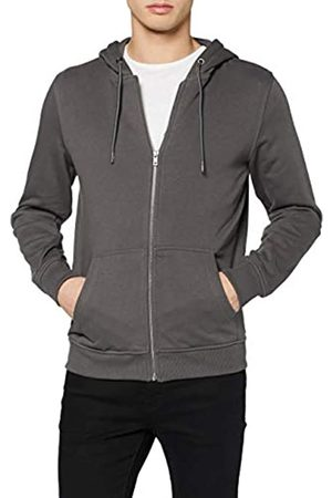 Urban classics Men's Sweat-Jacke Basic Kapuzen-Pullover Terry Zip Hoodie Hooded Sweatshirt
