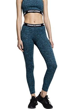 Urban Classics Women's Ladies Active Melange Logo Leggings Sports Trousers