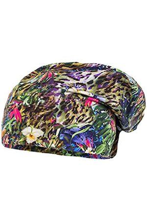 maximo Girl's Kids-Beanie Short, bedruckter Jersey Hat, Multicoloured-Mehrfarbig (sattes grün-Afrika 37)