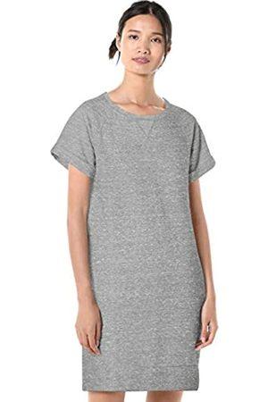 Goodthreads Modal Fleece Roll-Sleeve Sweatshirt Dress Medium NEP Heather