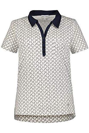 GINA LAURA Women's Poloshirt, Mit Webkragen Polo Shirt