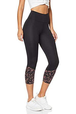 AURIQUE Amazon Brand - Women's Cropped Sports Leggings, 10