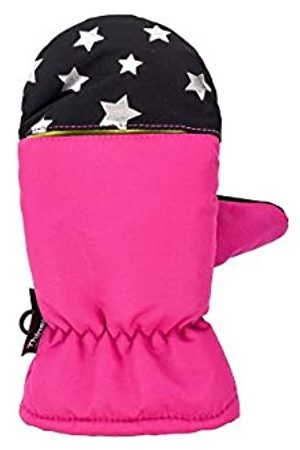 maximo Girl's 78303-829900, Thermofausthandschuh, Silbersterne Mittens