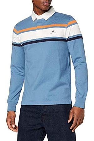 GANT Men's D1. Striped Chest Heavy Rugger Polo Shirt