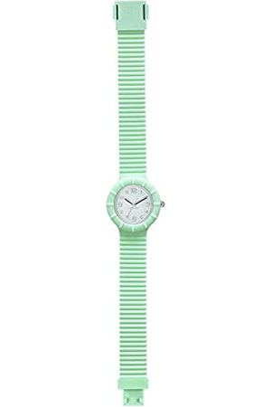 Hip Ladys' Numbers Collection Watch Collection Mono-Colour Silver dial 3 Hands Quartz Movement and Silicon Green Strap HWU0957