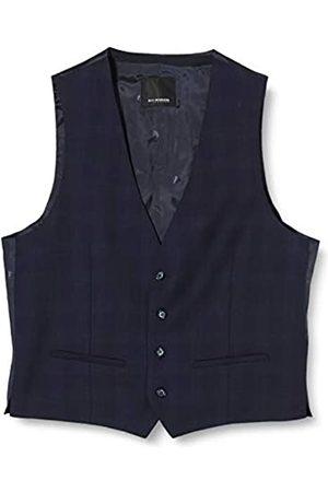 Roy Robson Men's Slim Waistcoat, (Dunkelblau karo 719-H401)