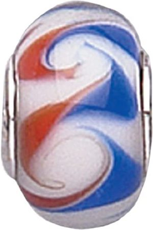 Jo for Girls Murano Glass Multi Swirl Bead With Core