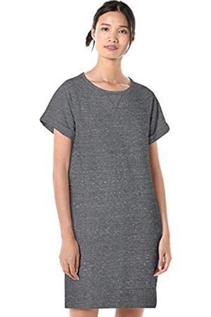 Goodthreads Modal Fleece Roll-Sleeve Sweatshirt Dress Charcoal NEP Heather