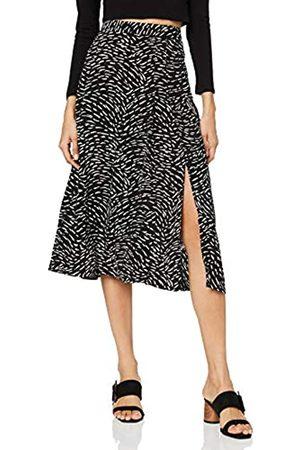 Warehouse Women's Mini Hazel Print Pleated Midi Skirt