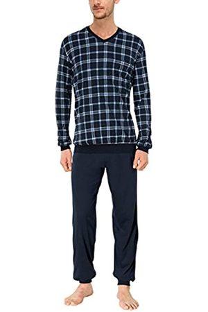 Schiesser Men's Anzug Lang146943 Pyjama Set, (Blau 800)