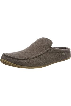 Living Kitzbühel Men's Moccasin dünner Alpaka Open Back Slippers, (Dark Truffle 291)