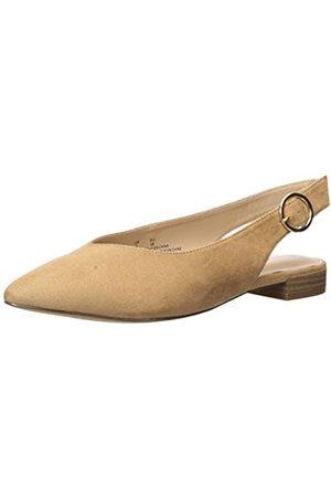 The Drop Tara Pointed Toe Slingblack Flat, womens Tara Pointed Toe Slingblack Flat Ballet Flat, (Braun)