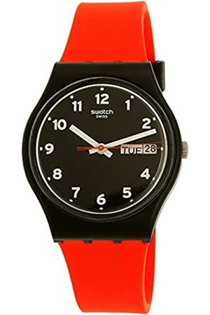 Swatch Unisex Analogue Quartz Watch with Silicone Strap GB754