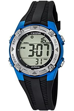 Calypso Unisex Digital Watch with LCD Dial Digital Display and Plastic Strap K5685/5