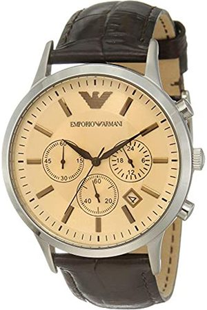 Emporio Armani Men's Chronograph Quartz Watch with Leather Strap AR2433