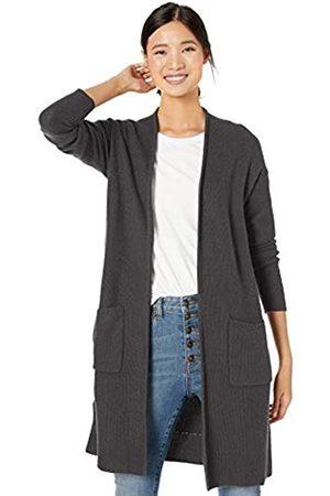 Goodthreads Wool Blend Honeycomb Longline Cardigan Sweater Charcoal