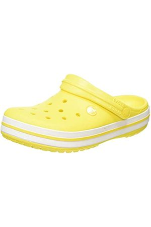 Crocs Unisex-Adult's Crocband Clogs, Lemon/